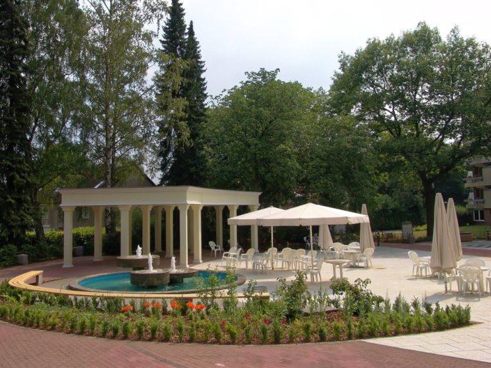 Pavillon im Kurpark der Curator Stiftung zum Heiligen Geist Hospital in Hamburg